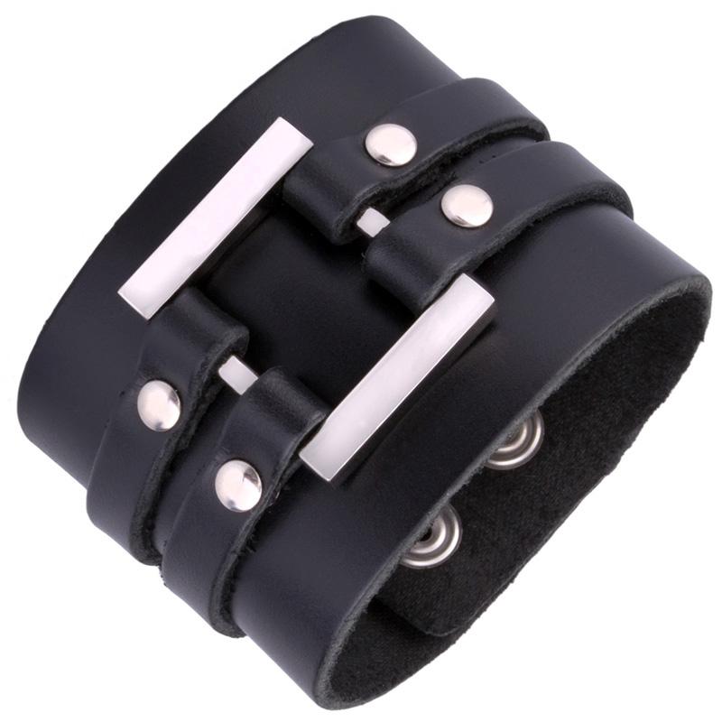 sweeg lederarmband armband leder herren m nner schmuck schwarz braun s170 ebay. Black Bedroom Furniture Sets. Home Design Ideas